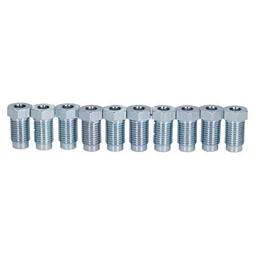 Bremsrohr-Verschraubung, Stahl, männlich, 3/8 Zoll x 24 UNF für 3/16 Zoll Bremsrohr, 10 Stück