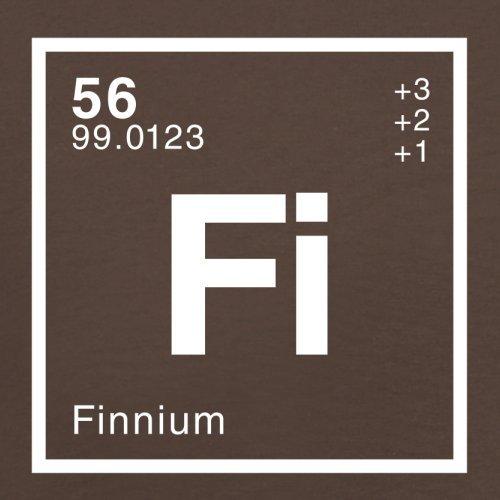 Finn Periodensystem - Herren T-Shirt - 13 Farben Schokobraun