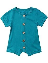 50dcf48d56a PLOT Newborn Baby Romper Button Jumpsuit Clothes Bodysuit Playsuit Pajamas  Outfit 0-2T