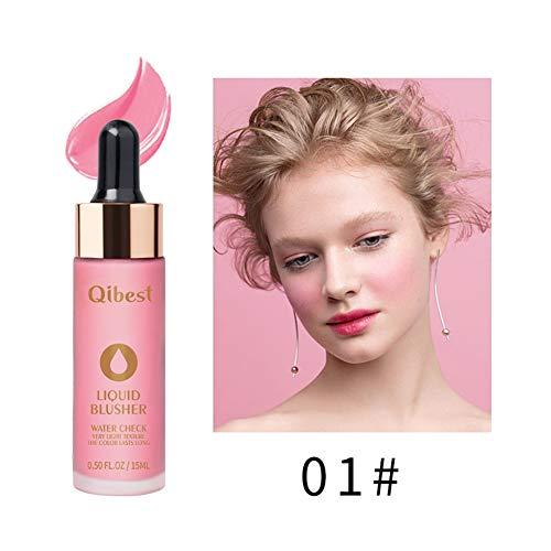 Flüssiger Rouge, wasserdicht und lang anhaltend Flüssiger Rouge Flüssiger Lidschatten Leicht zu färben, kosmetische Peach Pink Orange Rouge Wange Rouge Gesicht Make-up Produkte -