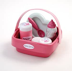 Smoby - 24072 - Poupée et Mini-Poupée - Baby Nurse - Panier Garni Nursery