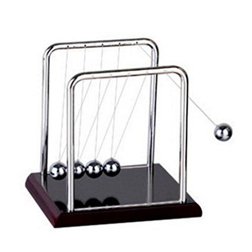 (YUKIKO Schreibtisch Spielzeug, Newton Cradle Balance Ball Wissenschaft Puzzle Spaß Schreibtisch Spielzeug S)