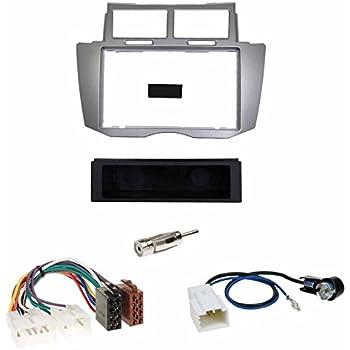 tomzz Audio 2455-026 Radioblende Set passend f/ür Toyota Yaris P1 Facelift Bj.2003-2006 schwarz mit Radioadapter ISO