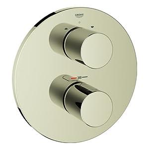 Grohe Grohtherm 3000 Cosmopolitan termostato parte exterior baño Polished Nickel