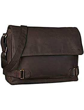 STILORD 'Luca' Leder Businesstasche 15,6 Zoll Laptop Messenger Bag Vintage Aktentasche Umhängetasche Schultertasche...