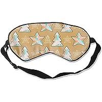 Schlafmaske mit 5 Sternen, Weihnachtsbaum, weich und bequem, Augenbinde für vollständige Verdunkelung und Lichtblockierung... preisvergleich bei billige-tabletten.eu