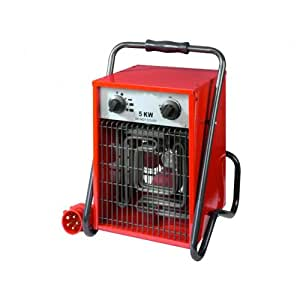 Chauffage De Chantier electrique Atelier Générateur air chaud 5000W 400Volt EK5001