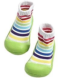 Zapatos de calcetines para bebés, suelas de goma suave antideslizante para niños, zapatos para niños…