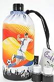 Blueraccoon Emil die Flasche 0,4 Liter inklusive Trink Cap und Zusatzverschluss (Emil 0,4 Liter Fussball Cap Edition)