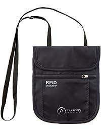Inspirador Aventuras RFID Resistente al Agua Cuello Tipo Cartera Funda de Viaje