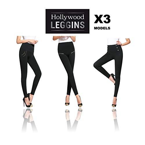 Hollywood Leggings – Los Nuevos Leggins Adelgazantes con los que parecerás Más Delgada al Instante, 3 modelos por el precio de 1! Talla S