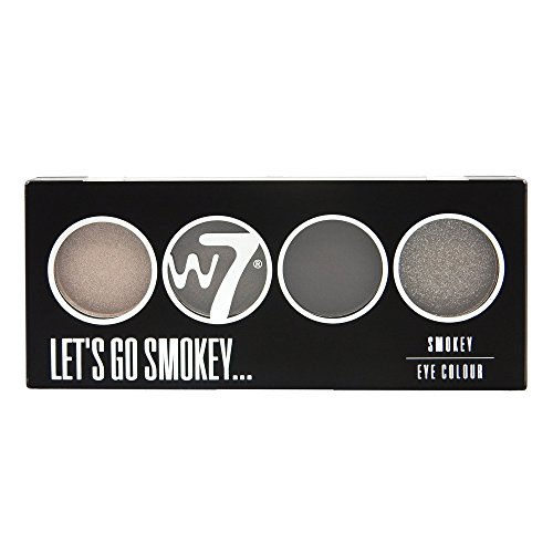 W7 Let's Go Quad Eye Color Palette - Let's Go Smokey (Smokey Eye Palette)
