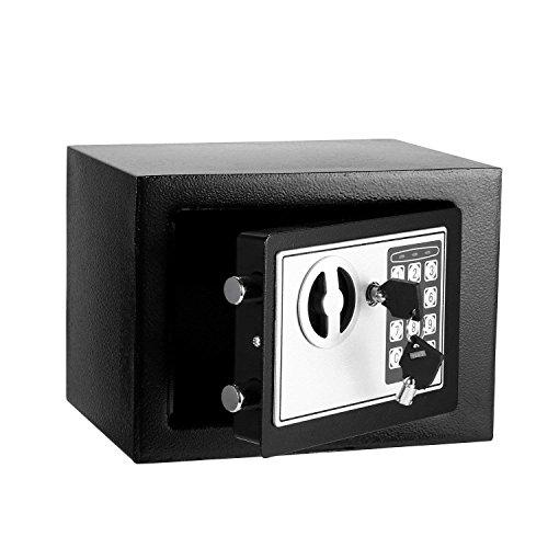 Coffre-Fort électronique numérique Petit Coffre-Fort de sécurité à la Maison avec Coffret Mural à Serrure numérique, Coffre-Fort pour Objets de Valeur pour Armes à feu, Bijoux (Noir)