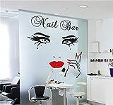 wandaufkleber babyzimmer mädchen Nail Bar Beauty Eyes für Friseursalon Nagelstudio