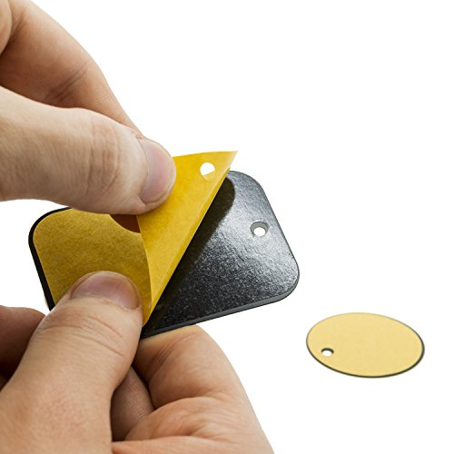 mobile-fox-magnethandyhalterungsplatten-plaques-de-rechange-plaquette-metallique-rond-carre-lot-de-2