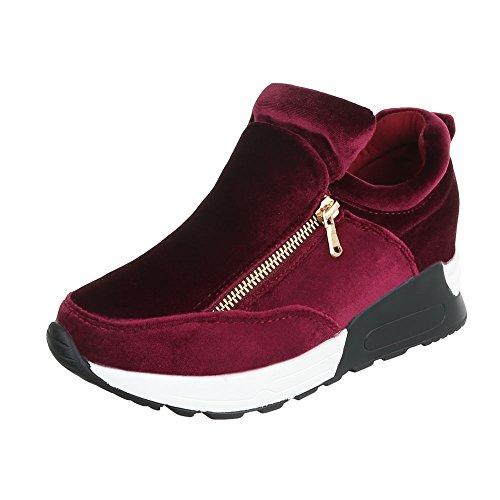 Ital-Design - Pantofole a Stivaletto Donna Bordeaux