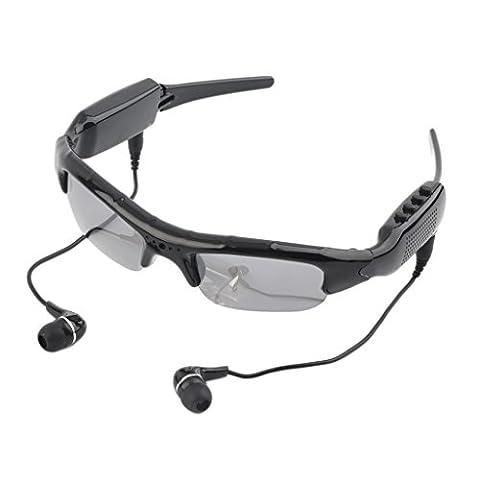 Mengshen® Outdoor Black Cool Spy Sunglasses 4 in 1 MP3 Player DVR Mini Hidden Camera Video Recorder Support Micro SD Card