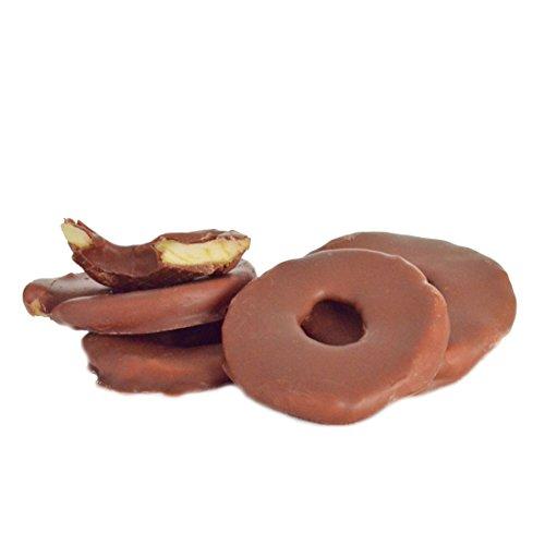 Apfelringe in edle Vollmilchschokolade 250 g | schokolierte Früchte