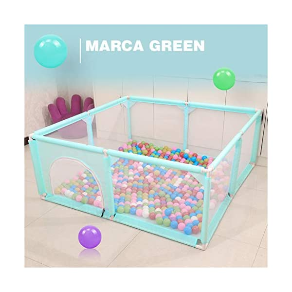 Extra Large Baby Playpen Baby Fence Toys House Baby Game Playpen Kids Safety Play Center Yard Home Indoor Fence size  ★Baby Game Space: A professionally designed play activity center for children from 6 to 36 months, providing plenty of space for crawling, jumping and entertaining. ★ Stable and safe: environmentally thickened plastic pipes, thickened Oxford cloth, widened base design, non-slip, no side roll, high-density sewing, durable, high-density mesh ventilation, ventilation, mother more assured. ★ Multi-functional design: innovative curtain design, easy for the baby to enter and exit the fence, exercise baby crawling ability, 62 cm safe height, can help the baby stand and learn to walk. 7