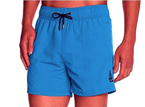 HOM Herren Badeshort 10119960 Marine Chic Boxer Short, Gr. 8 (XXL), Blau (BLUE - LIGHT COMBINATION M007)