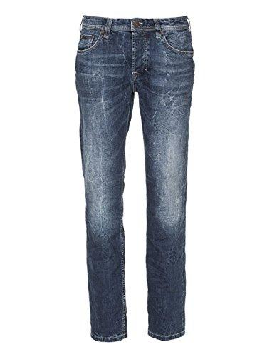 M.O.D Herren Straight Jeans Thomas Blau (Pirelli Blue 1638)