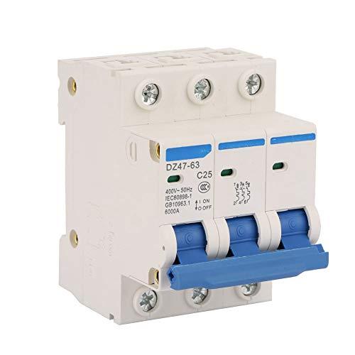 Disyuntor de corriente residual en miniatura RCCB DZ47-63 C25 3P 25A 400V