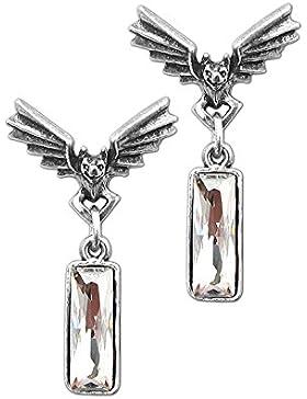 Alchemy Gothic Chrysler Fledermaus Kristall Paar Ohrringe