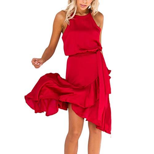 -Rüschen-kalte Schulter-ärmelloses Kleid-Abend-Party-Kleid ()