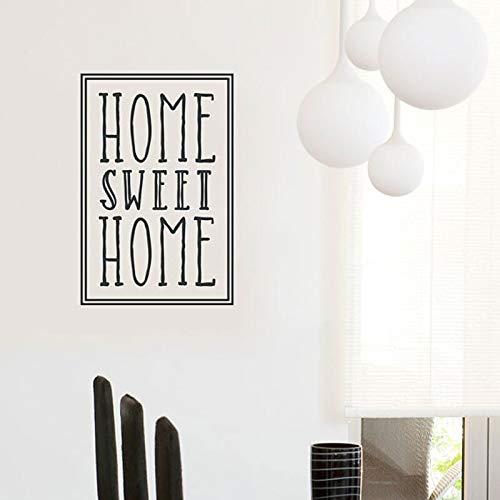 t Home Wand Zitat Aufkleber Vinyl Home Decor Für Wohnzimmer Wandaufkleber Moderne Haus Dekoration Tapete 42X64CM ()