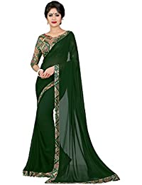 Oomph! Women's Georgette Saree with Blouse Piece