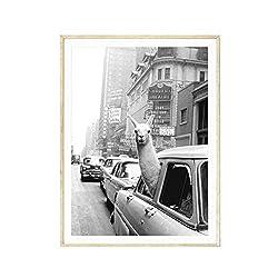 Ingrirt5Dulles Vintage Alpaka Poster Leinwand Malerei Wandkunst Bild Wohnzimmer Wohnkultur/geeignet für Schlafzimmer/Wohnzimmer/Hotel/Restaurant 40 * 50cm