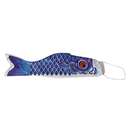 150cm Manche à Air Japonais Drapeau Koinobori Serpentin de la Carpe Banderole Bleu