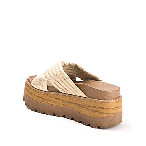 Ideal Shoes ,  Infradito donna Oro