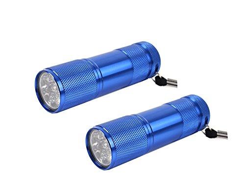 PB-SOAR 9 LED Mini-Taschenlampe Handlampe Aluminiumgehäuse, Weißes Licht (2)