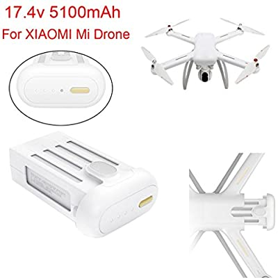 Xiaomi Mi Drone Battery, Up to 27 Minutes Flight Time 17.4V Max 5100mAh Battery For XIAOMI Mi Drone 4K Wifi FPV Quadcopter