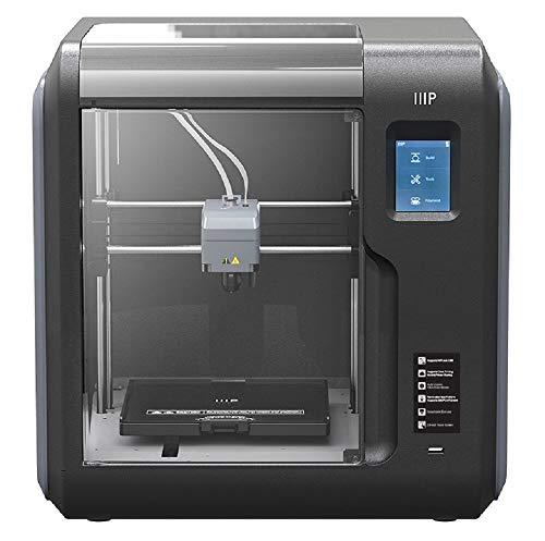 Monoprice Voxel 3D-Drucker - Schwarz/Grau mit abnehmbarer, beheizter Bauplatte (150 x 150 mm) Vollständig geschlossen, Touchscreen, unterstütztes Niveau, einfaches WLAN, 8 GB interner Speicher - 3