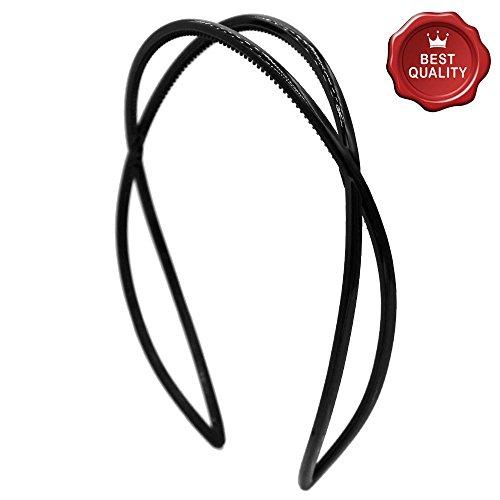 HB53-001 - Cheveux pour cheveux cm 2,5 barres entrelacées avec denture Noir - Bulles pour cheveux