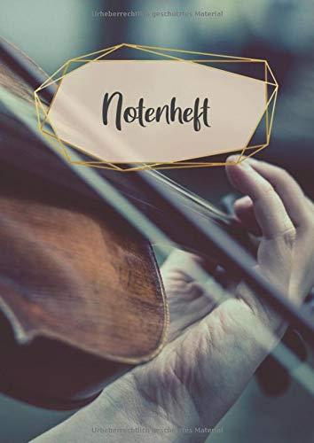 Notenheft: 120 Seiten | DIN A4 Format | 14 Systeme pro Seite | Blanko Notenblock | Großes Format für Musiker