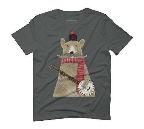 Design By Humans  Herren T-Shirt Anthrazit