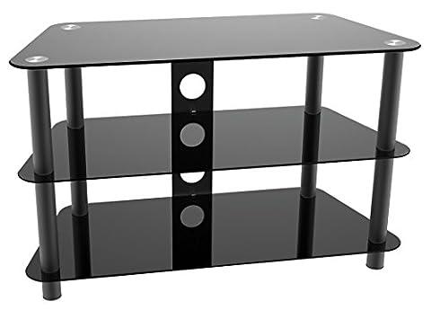 RICOO Fernsehtisch Glas Tisch TV Rack FT502S LCD TV/Hifi Möbel