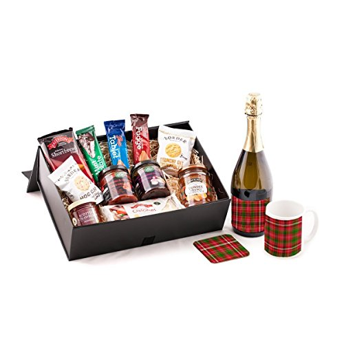 Tartan Prosecco Scottish Food Hamper. Birthday, Anniversary, Engagement, Easter, Mother's day, Father's day, Valentine's day, Wedding or Christmas gift idea