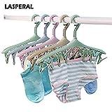 Multi-Functional Creative 8 Clip Plastic Drying Hanger Windproof Wardrobe Underwear Bathroom Socks Organizer Tie Storage Holder