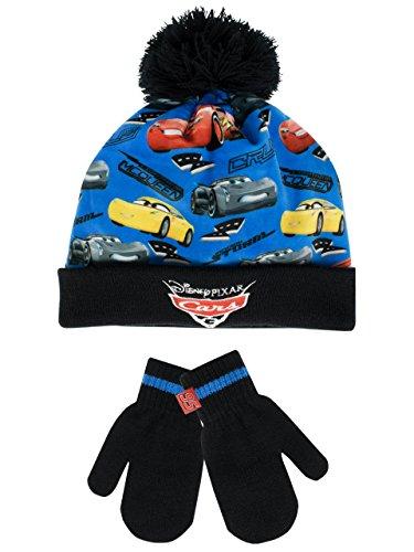 Disney Cars Jungen Cars Mütze & Handschuh - 2 Bis 4 Jahre (Fäustlinge Mütze)