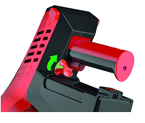 Dirt Devil DD698-1 Cavalier Kabelloser multifunktionaler Akku-Handstaubsauger ohne Beutel (21,6 V Li-Ion, Turbobürste, 3-in-1 Kombidüse) silber/rot