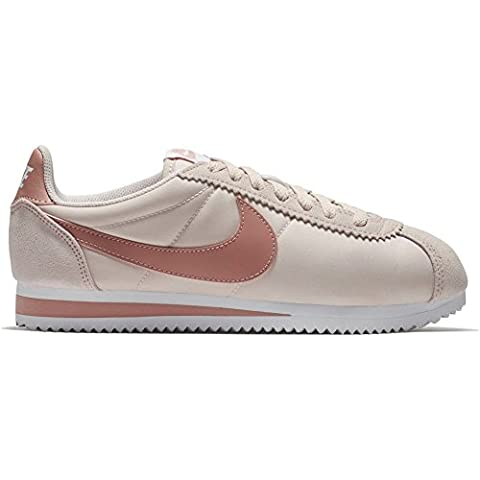 Nike Classic Cortez Nylon, Baskets Femme, Rot (Silt Red/Red Stardust-White), 40 EU