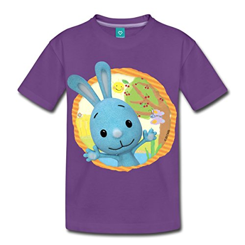 Spreadshirt KiKANiNCHEN Kaninchen Sommertag Am See Kinder Premium T-Shirt, 110/116 (4 Jahre), Lila (Einheitliche T-shirt Lila)
