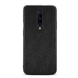 GOGODOG Kompatibel mit OnePlus 7 Pro Hülle Cases Cover Vollständige Abdeckung Ultra dünn Matte Anti-Rutsch Kratzen Beständig Mode Kohlefaser Softshell (Nylon-Muster)