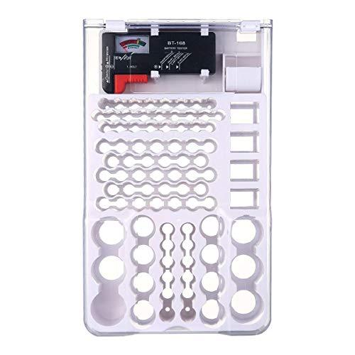 Batteria storage organizer case-batteria storage box con tester batteria contenitore fits aa aaa c d e 9volt batteries-fits in un cassetto o montaggio a parete
