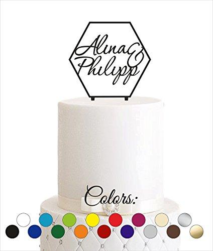 Cake Topper, Tortenstecker, Tortefigur Acryl, Tortenständer - individuell - Farbwahl - Etagere Hochzeit Hochzeitstorte