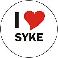 I love Syke Sticker - 8 cm / 3,14 inch diameter round - very stylish